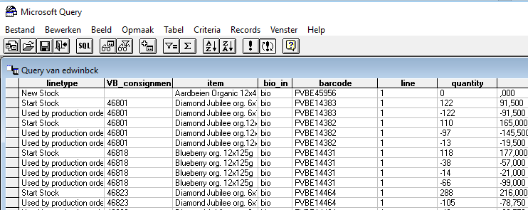 How to use an SQL query with parameters in Excel – Kannekens